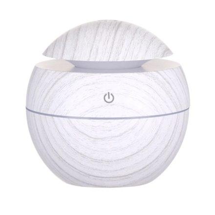 Ultrahangos, LED-es aroma diffúzor, fehér vintage famintázattal