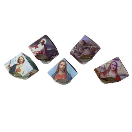 Illatgyertya Szentképes üvegben 85gr viasz