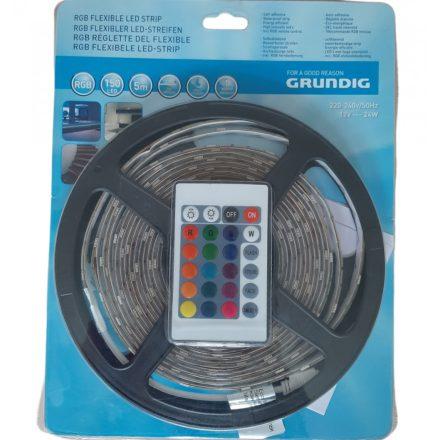 LED szalag 5 m 150 db leddel RGB, öntapadós, távirányítóval, GRUNDIG