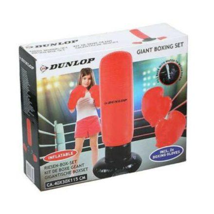 Boxzsák felfújható (115 cm) 3 részes, gyerekeknek, agressziólevezetéshez