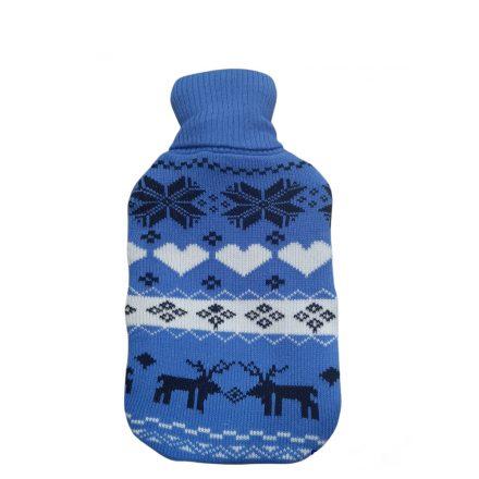 Melegvizes palack norvég mintás pulóverben 2 literes, kék