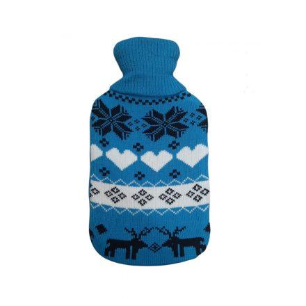 Melegvizes palack norvég mintás pulóverben 2 literes, királykék