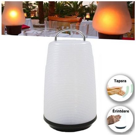 Lámpa asztali LED hang és érintés vezérelt elemes