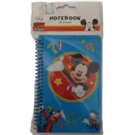 Jegyzetfüzet (50) 16x10cm Disney-Mickey Mouse
