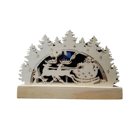 Karácsonyi fa figura LED télapó- elemes