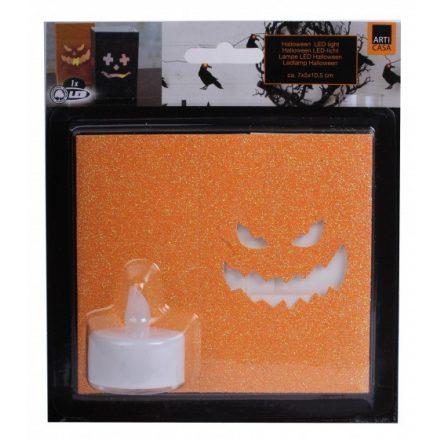 Halloween LED világítás 7x5x10,5cm ,  CR2032 elemmel