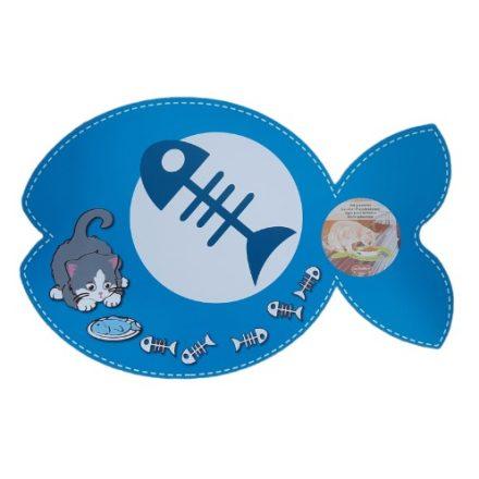 Kisállat műanyag tálalátét 43x28cm hal, kék