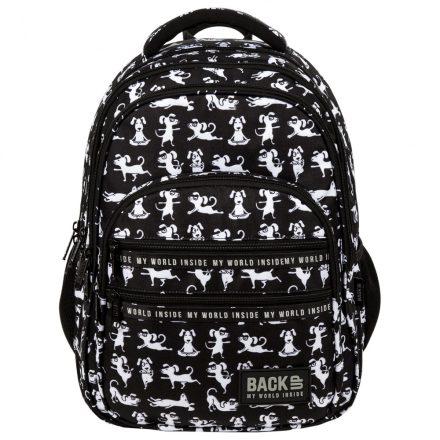 Jógázó kutyus hátizsák, iskolatáska BackUp